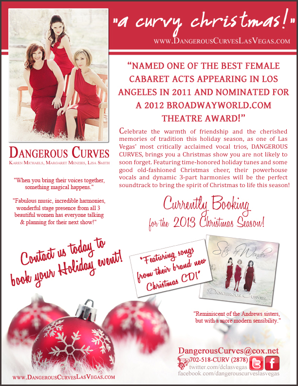 """Dangerous Curves"" Currently Booking for the 2013 Holiday Season!"